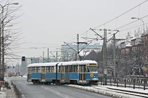 17.02.2009, Konstal 102Na na al. Hallera. fot. Leszek Peczyński