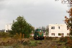 17 październik 2008. SM42-554 manewruje po wówczas niewyremontowanej jeszcze - linii kolejowej z Trzebnicy, po przyprowadzeniu pociągu zdawczego do pobliskiej fabryki Whirpool. fot. Przemysław Kędzierski