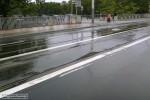Nawierzchnia torowiska na moście Uniwersyteckim