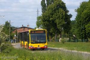 23.05.2013, Trestno ul. Nadodrzańska. Citaro jako 120/1 wykonuje jeden z dwóch kursów do Blizanowic.