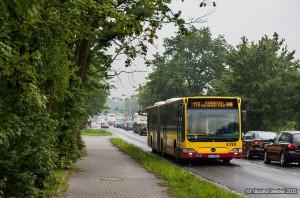 28.06.2012, Mercedes na linii 113 na ul. Zwycięskiej we Wrocławiu. fot. Wojciech Dembski.