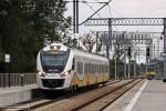 27.08.2013 |Wrocław Leśnica| Jaszczur wjeżdża na peron 1 remontowanej stacji Wrocław Leśnica.