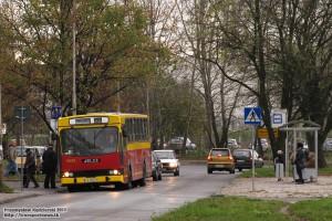 05.11.2013, Wrocław ul. Królewska. Jelcz na zmienionej trasie z powodu remontu bocznicy kolejowej do zakładów Whirpool.