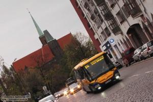 05.11.2013, Wrocław ul. Świętokrzyska. SOR na objeździe remontowanej ul. Wyszyńskiego.