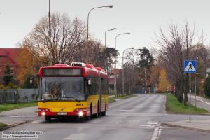 10.11.2013, Wrocław ul. Irkucka. 128 na zmienionej trasie.