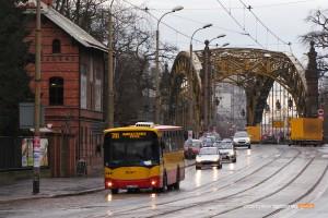 09.01.2014, Wrocław ul. Wróblewskiego. Jelcz na linii 701.
