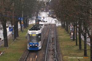 09.01.2014, Wrocław ul. Wróblewskiego. Protram na linii 10.