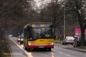 09.01.2014, Wrocław ul. Olszewskiego. Solaris na linii 701.