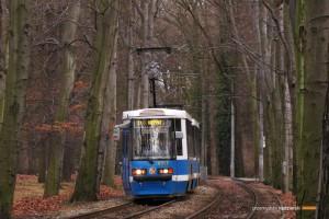 18.02.2014, Wrocław al. Różyckiego. Skład #2313+2332 na linii 17.