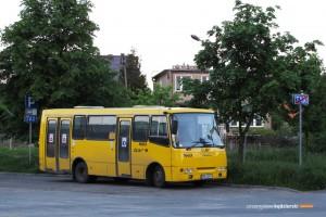 """19.05.2014, Wrocław, Litewska-pętla. Bogdan """"odpoczywa"""" przed kolejnym kursem linii 150P."""