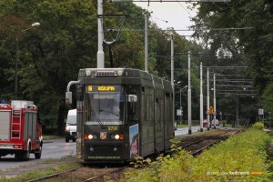 15.08.2014, Wrocław ul. Mickiewicza. Protram na jeszcze zmienionej trasie linii tramwajowej 2.