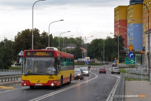30.08.2014, Wrocław ul. Bora-Komorowskiego. Volvo na linii D.