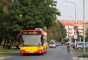 18.09.2014, Wrocław ul. Tyrmanda. Volvo na linii 319 na objazdowej trasie spowodowanej remontem ul. Mińskiej. fot. Wojciech Dembski.