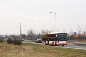 27.03.2015, Wrocław ul. Królewiecka. Setra na linii 101.