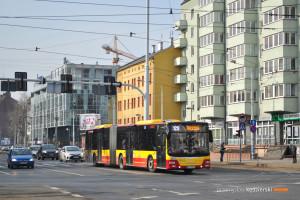 27.02.2016, Wrocław, ul. Sienkiewicza. MAN na linii 128.