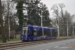 27.02.2016, Wrocław, ul. Grabiszyńska. Pesa na linii 5.