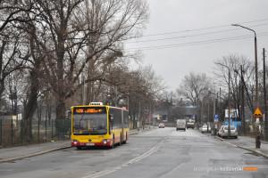 15.02.2016, Wrocław, ul. Robotnicza. Mercedes na linii 406.