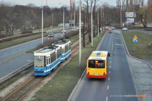 14.02.2016, Wrocław, ul. Krakowska. MAN na linii 114.