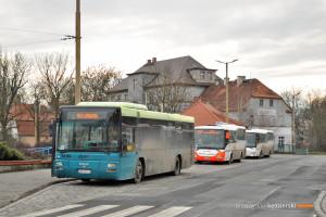 15.02.2016, Wrocław, pętla Leśnica. MAN na linii 923.