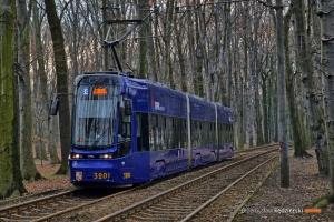 14.03.2016, Wrocław al. Różyckiego. PESA na linii 33.