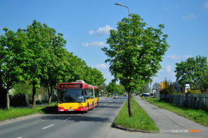 6.05.2016, Wrocław, ul. Irkucka. Volvo na linii D.