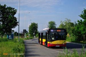 """27.05.2016, Łany, pętla """"Wojnów (Pętla)"""". Solaris na linii 115."""