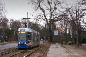 10.01.2014, Wrocław, ul. Mickiewicza. Protram na linii 2.