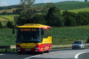 4.07.2017, Koźmice. Nowy SOR BN12 dla Sevibusa na linie 908 i 930. fot. Paweł Rząsowski.