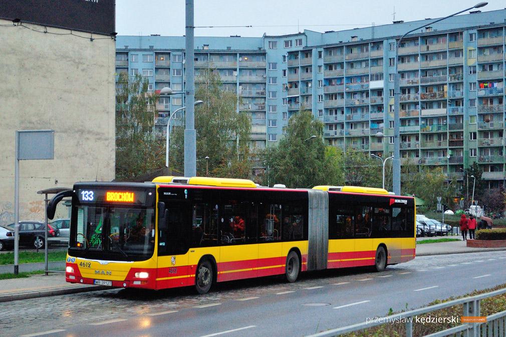 Mniej kursów linii 133 do Auchan