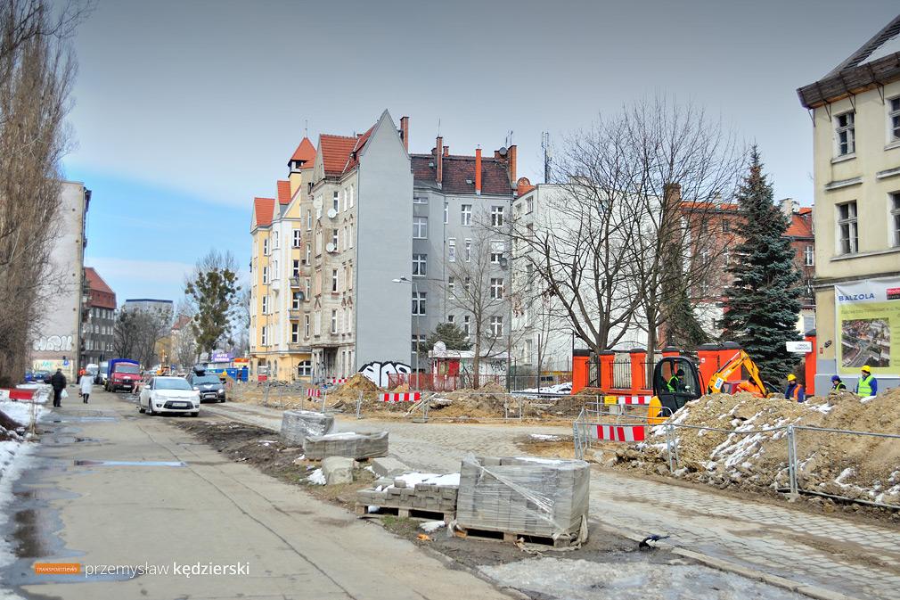 20.03.2018, Wrocław, ul. Hubska.
