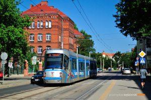 07.06.2018, Wrocław, ul. Gliniana. Skoda na linii 31.