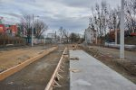 9.03.2019, Przy ulicy Dyrekcyjnej powstaje fundament torowiska tramwajowego. fot. NEO[EZN]/fotopolska.eu CC/BY/SA.