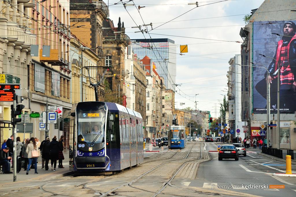 Remont torowiska przy Dworcu Głównym – zmiany tras linii tramwajowych