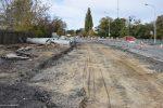 17.10.2019, Wrocław, ul. Starogroblowa. Stan budowy torowiska tramwajowego. fot. Wacław Grabkowiski / fotopolska.eu, CC-BY-NC-ND 3.0