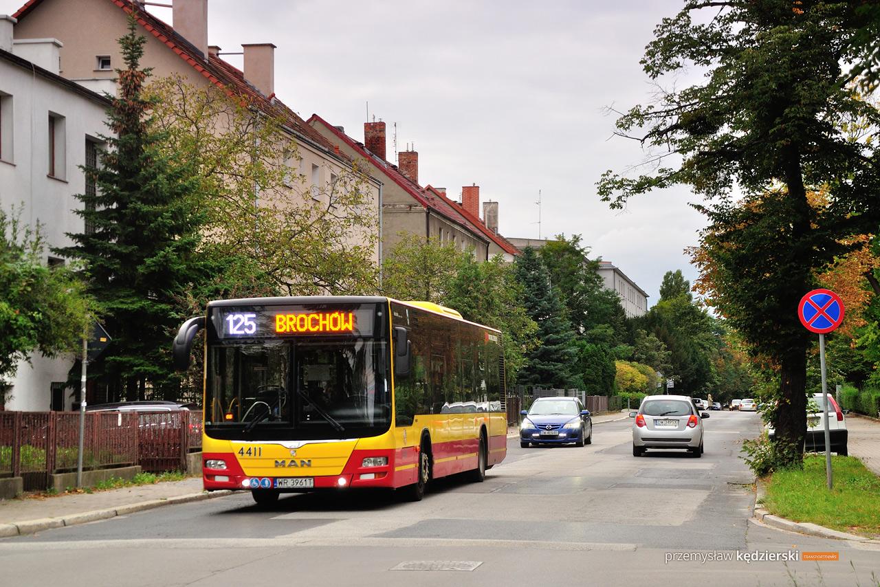 Remont ulicy Komandorskiej – zmiana trasy linii 125